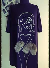 Purple fur dress