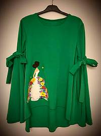 Green girl blouse
