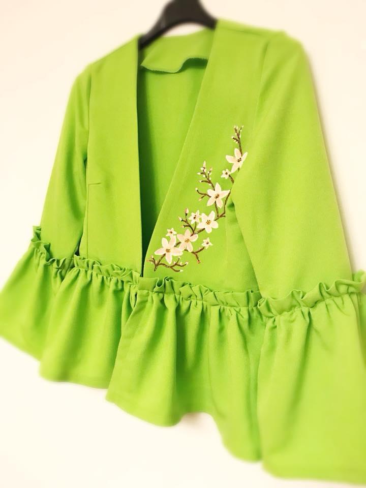 Sacou light green